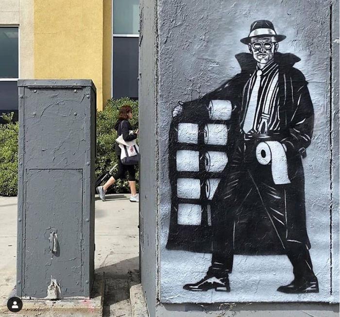 Фото №2 - 20 граффити со всего мира, навеянные коронавирусом