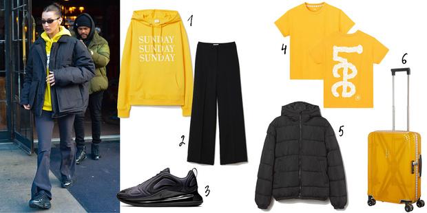 Фото №1 - В стиле Джиджи Хадид: с чем носить брюки клеш, чтобы выглядеть модно