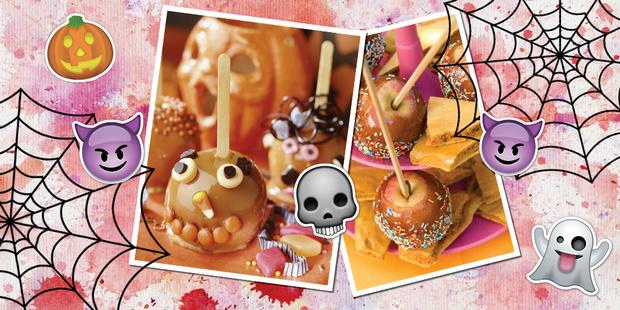 Яблоки в карамели простой рецепт хэллоуин