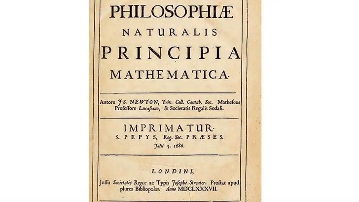 Фото №1 - На Корсике обнаружили первое издание книги Исаака Ньютона