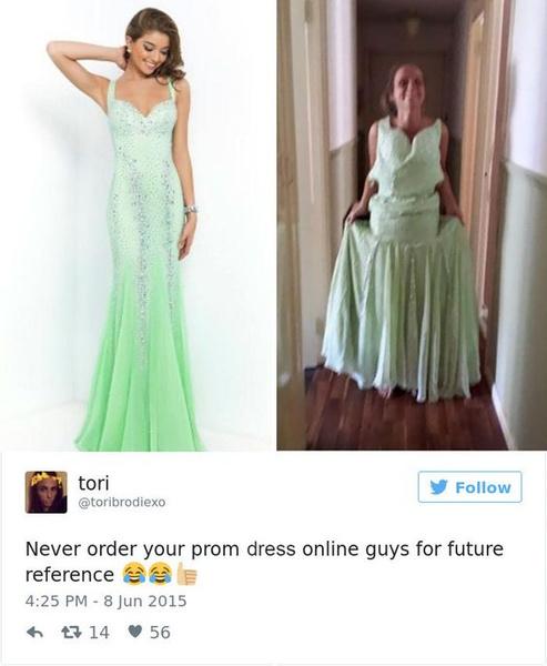 Фото №9 - Ожидание VS реальность: 20 самых нелепых платьев на выпускной, которые заказали в интернете