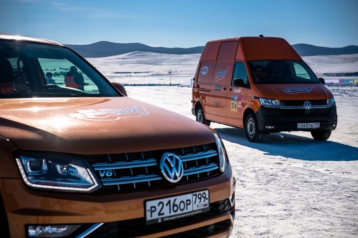Фото №3 - Марка Volkswagen Коммерческие автомобили приняла участие в фестивале «Дни скорости на льду Байкала»