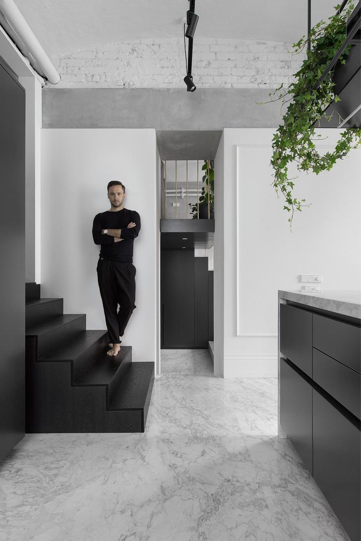 Фото №1 - Квартира для модного продюсера в Москве