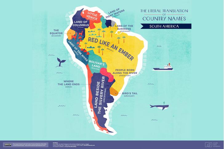 Фото №5 - Опубликована карта мира с буквальным переводом названий стран