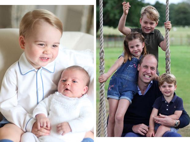 Фото №1 - Самые милые и забавные совместные фото Джорджа, Шарлотты и Луи