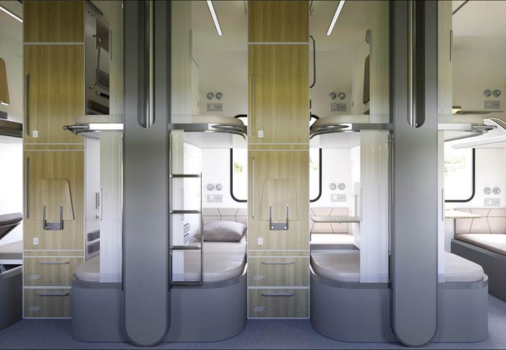 Фото №1 - РЖД показали макет новых плацкартов с отдельным отсеком для каждого пассажира (фото)