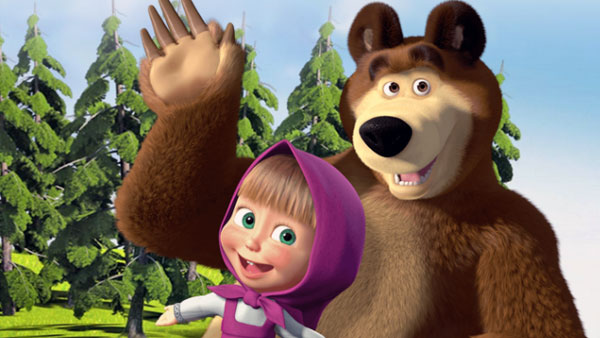 Фото №1 - Мультфильм «Маша и Медведь» покажут на Netflix