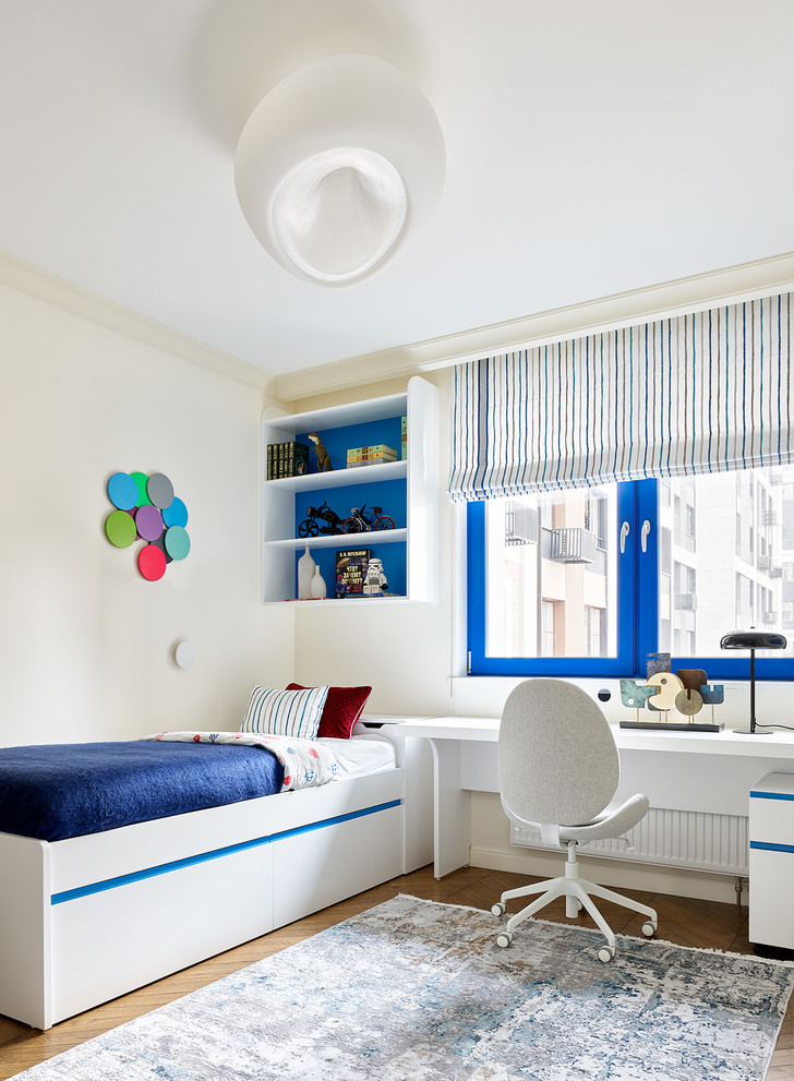 Фото №10 - Трехкомнатная квартира в оттенках синего цвета