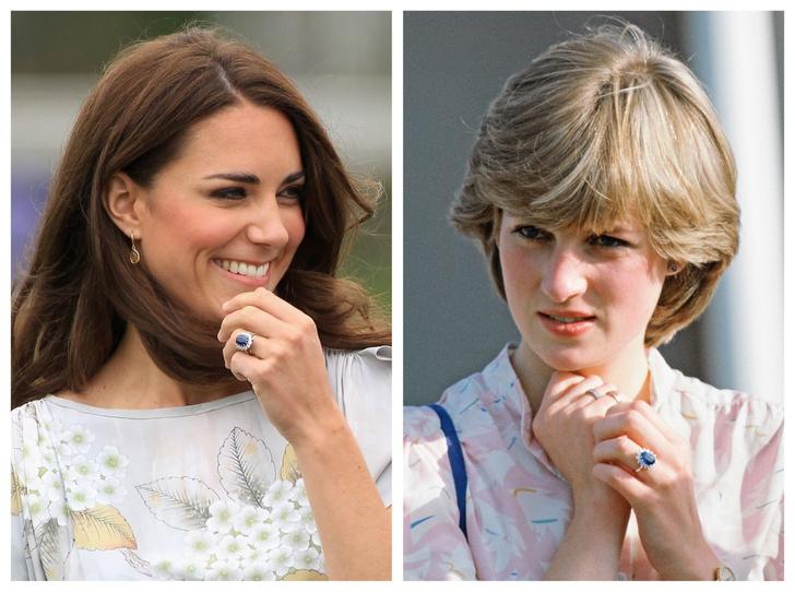 Фото №1 - Как изменилось помолвочное кольцо Дианы, когда оно перешло к Кейт