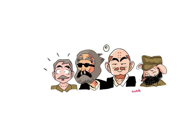 Фото №9 - Художник превратил персонажей мультфильмов в Ленина, Сталина и других вождей коммунизма