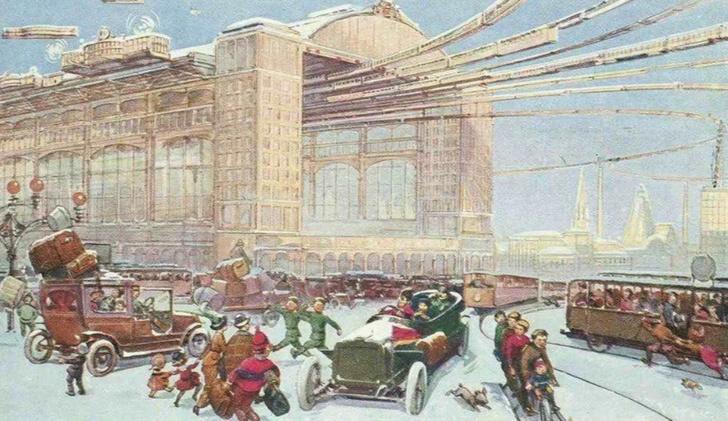 Фото №1 - Как представляли Москву будущего в 1914 году