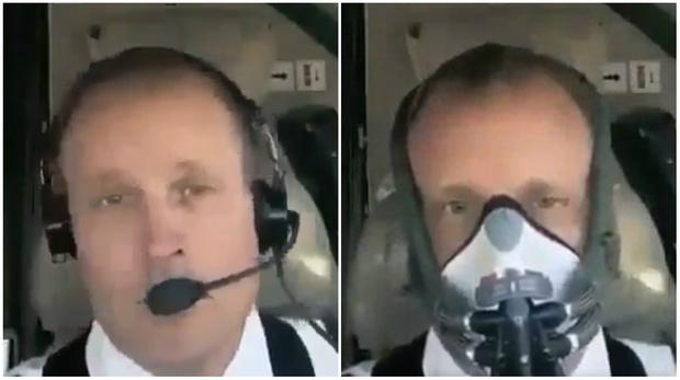 Фото №1 - Пилот демонстрирует, как быстро он наденет кислородную маску в экстренной ситуации (видео)