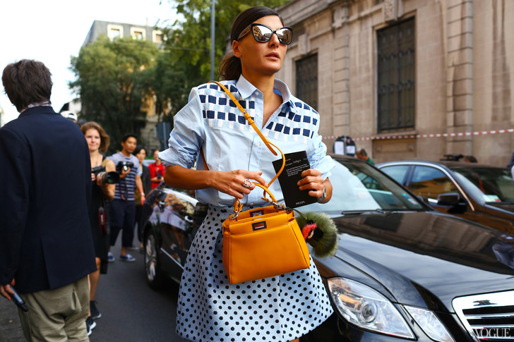 Джованна Батталья на Неделе моды в Милане