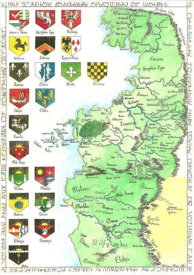 Фото №2 - Фанаты нарисовали подробную карту мира «Ведьмака»