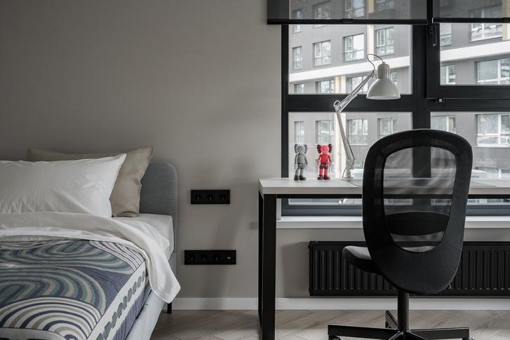 Фото №13 - Минималистская квартира в доме с радиусной планировкой