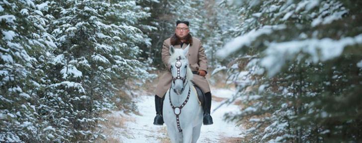 Фото №3 - Ким Чен Ын заехал на коне на священную гору, и эти фотографии обещают стать молниеносным мемом