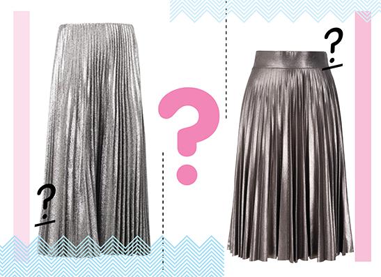 Фото №1 - Дорого-дешево: Юбка из метализированной ткани