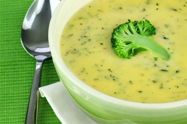 Суп из печеной цветной капусты и брокколи