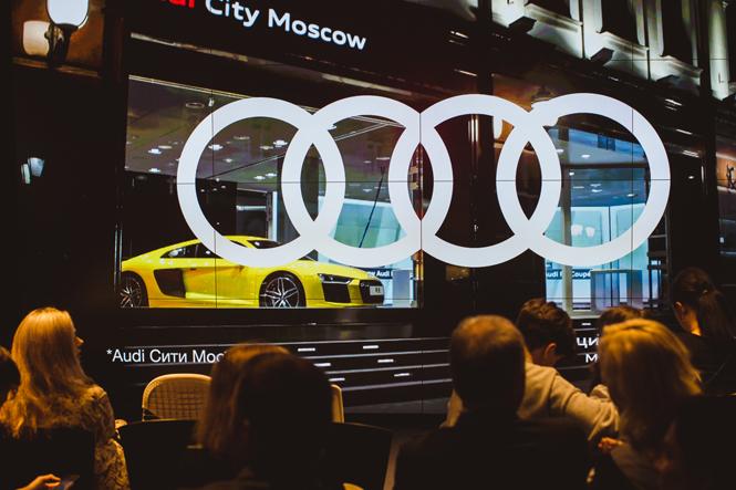Фото №1 - Светлана Бондарчук, Анна Цуканова-Котт и другие на предпоказе «Афера по-американски» в Audi City Moscow