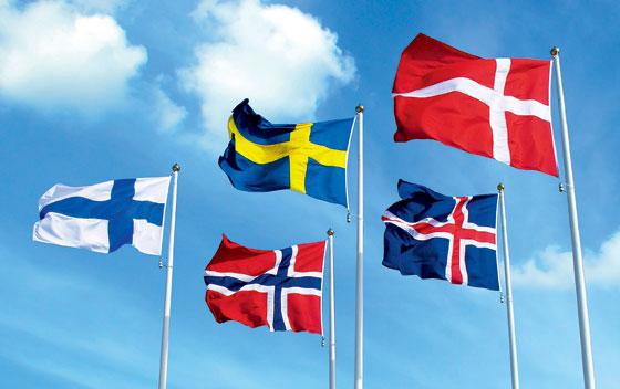 Фото №1 - Сошедшие с небес: скандинавские флаги