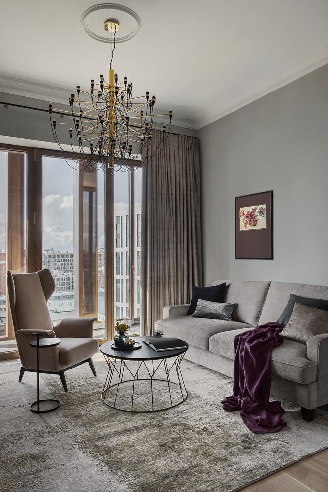 Фото №1 - Квартира 79 м² с панорамными видами на Москву