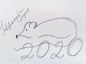 Фото №6 - Нани Брегвадзе, Ивар Калныньш и другие звезды нарисовали крыс на удачу