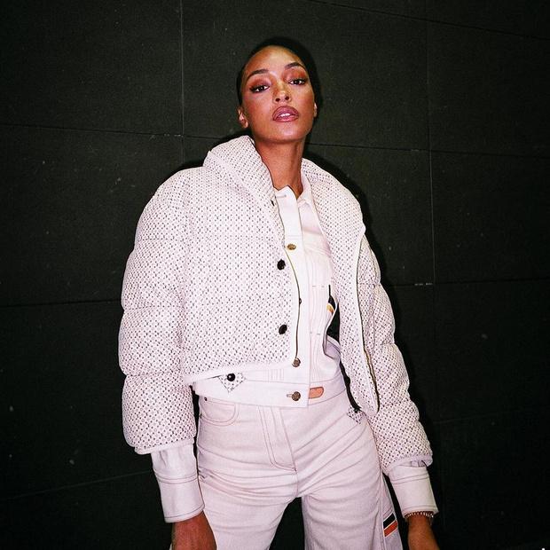 Фото №1 - Как одеяло: модель Джордан Данн нашла самый уютный и модный пуховик для настоящих морозов