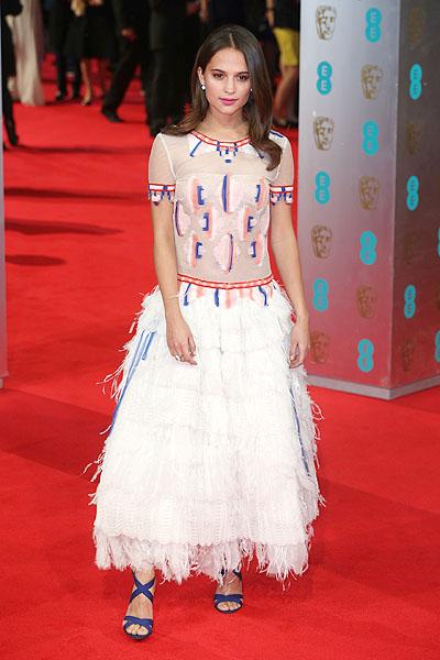 Алисия Викандер на BAFTA