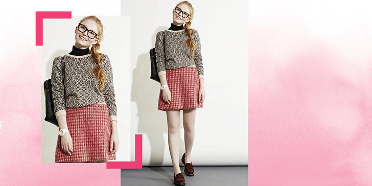 Фото №1 - 5 способов носить клетчатую юбку