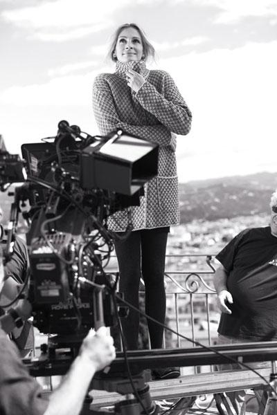 Джулия Робертс на съемках ролика Calzedonia