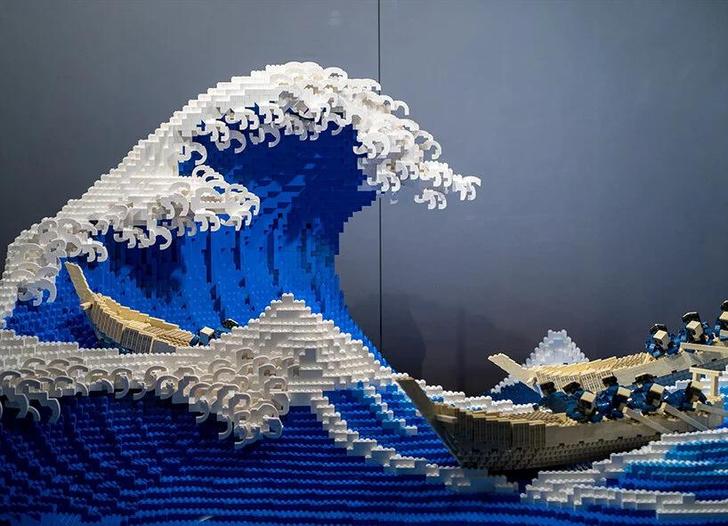 Фото №4 - «Большая волна в Канагаве» из деталей LEGO