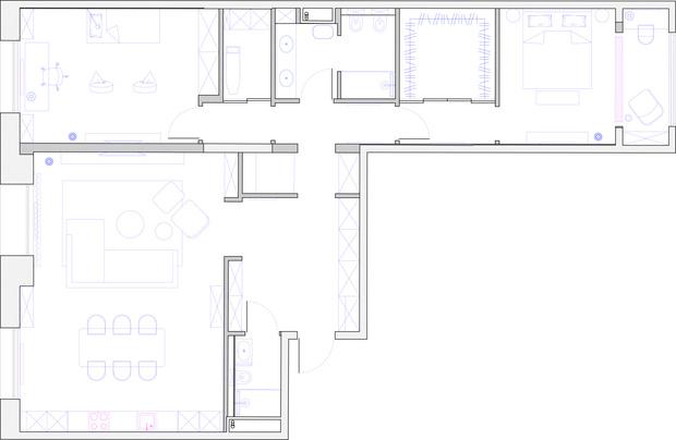 Фото №19 - Квартира 140 м² на Плющихе по проекту Tatiana Alenina design bureau
