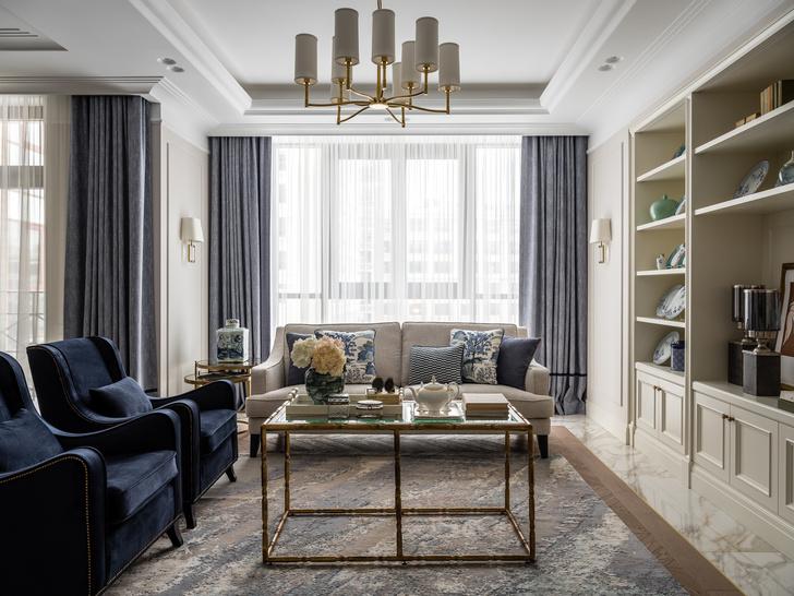 Фото №1 - Московская квартира 182 м² в стиле американской классики