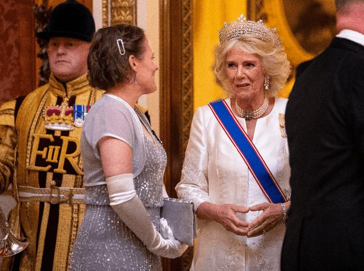 Фото №6 - Выход будущей королевы: герцогиня Кейт в эффектном образе на приеме в Букингемском дворце