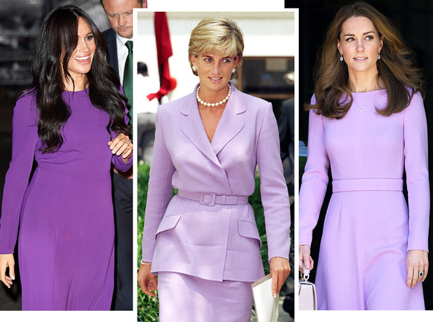 Фото №1 - Все оттенки сирени: как королевские особы носят фиолетовый цвет