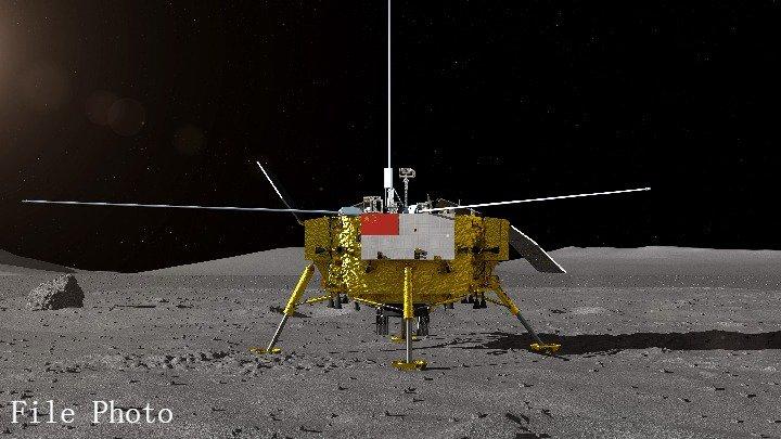 Фото №1 - Китайский зонд сел на обратной стороне Луны