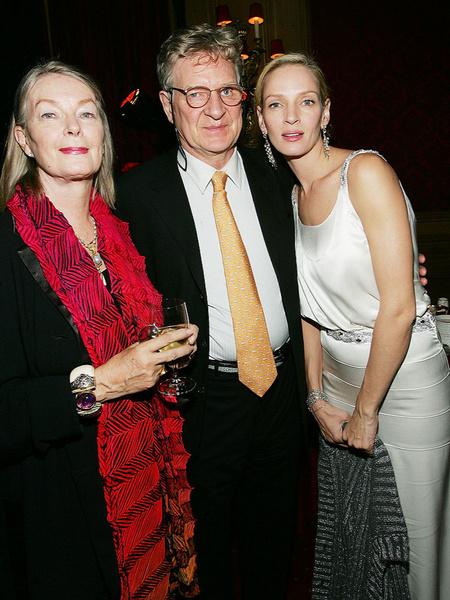 Ума Турман с родителями: Нена и Роберт Турман
