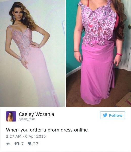 Фото №8 - Ожидание VS реальность: 20 самых нелепых платьев на выпускной, которые заказали в интернете