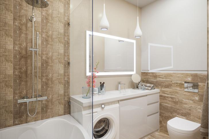 Фото №1 - 7 секретов, как вместить все необходимое в маленькую ванную