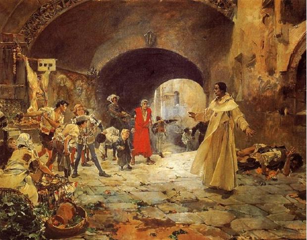 «Отец Хуан Хофре защищает сумасшедшего», Хоакин Соролья, 1887 г.