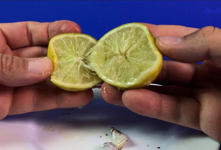 Фото №1 - Застольный лайфхак: разрезать лимон сигаретой (видео)