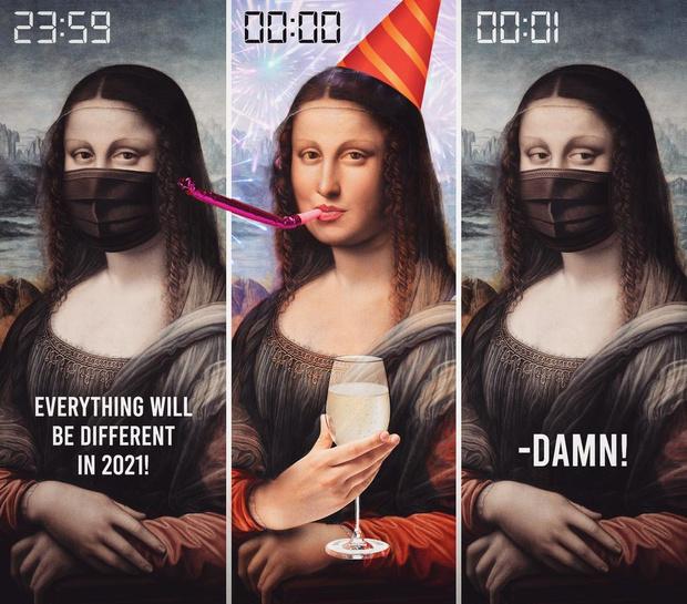 Фото №1 - Покруче мемов: арты Инста-художников к Новому году 2021