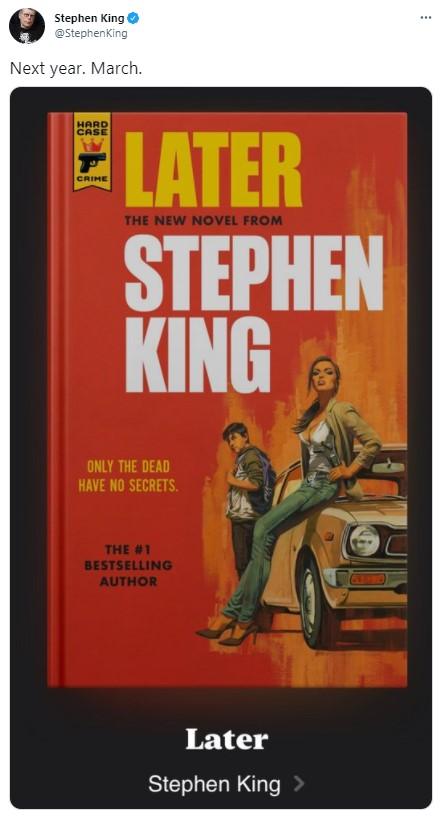 Фото №1 - Новый роман Стивена Кинга выходит в России