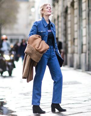 Фото №4 - С чем носить базовые прямые джинсы: модные идеи на любой случай