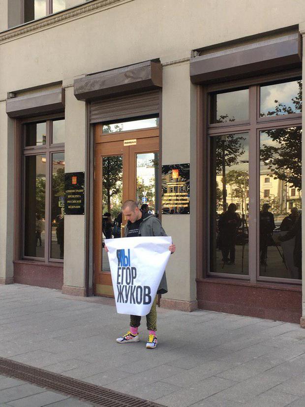 Фото №10 - В Москве началась серия одиночных пикетов в поддержку осуждённого на 3,5 года Павла Устинова (фото и видео)
