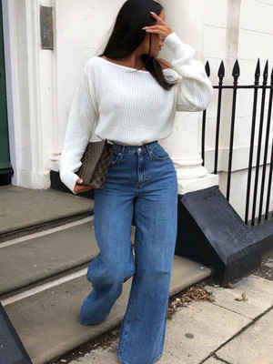 Фото №1 - Какие джинсы носить осенью 2020: 7 главных трендов