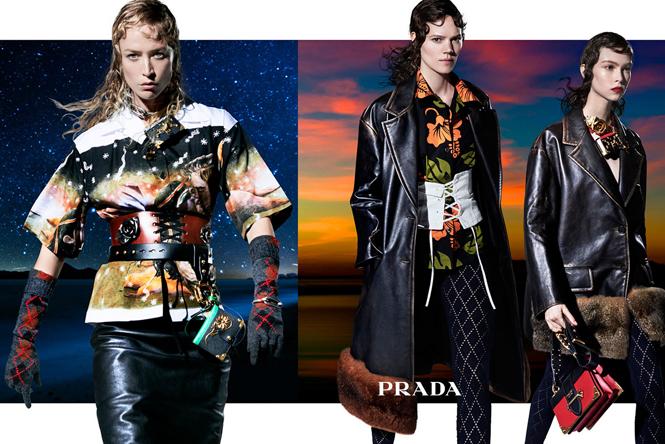 Фото №2 - 27 ярких моделей в осенней рекламной кампании Prada