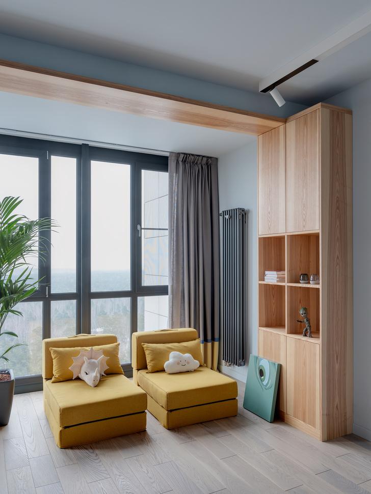 Фото №11 - Минималистичная квартира в оттенках дерева и бетона в Москве