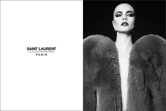Фото №3 - Кара Делевинь в кампании Saint Laurent