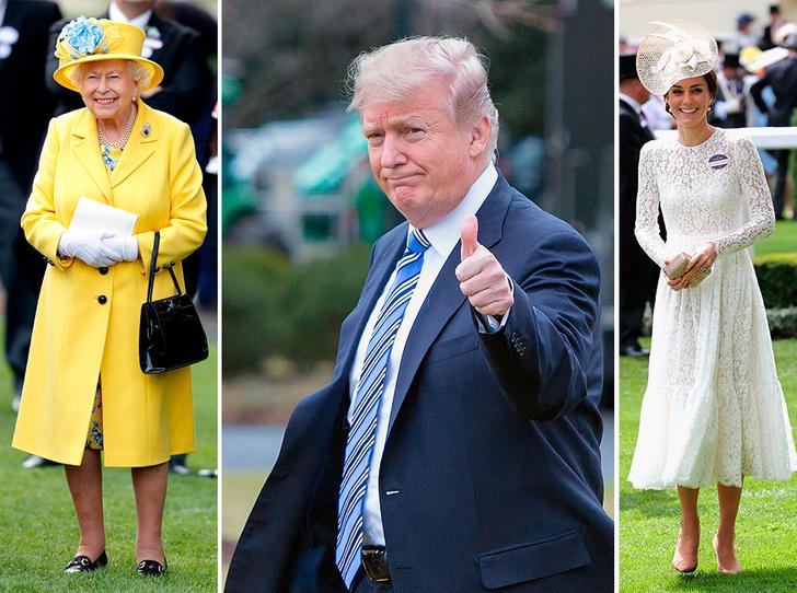 Фото №1 - Дональд Трамп и британская королевская семья: краткая история отношений